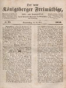 Der neue Königsberger Freimüthige, Nr. 35 Donnerstag, 24 März 1853