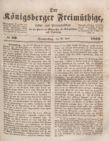Der Königsberger Freimüthige, Nr. 50 Donnerstag, 28 April 1853