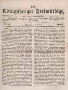 Der Königsberger Freimüthige, Nr. 52 Dienstag, 3 Mai 1853