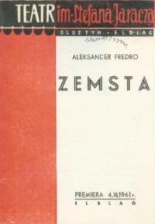 Zemsta - program teatralny