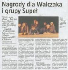 Nagrody dla Walczaka i grupy Supeł - wycinek prasowy