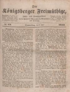 Der Königsberger Freimüthige, Nr. 65 Donnerstag, 2 Juni 1853