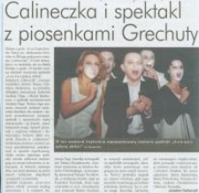 Calineczka i spektakl z piosenkami Grechuty