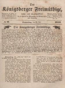 Der Königsberger Freimüthige, Nr. 77 Donnerstag, 30 Juni 1853