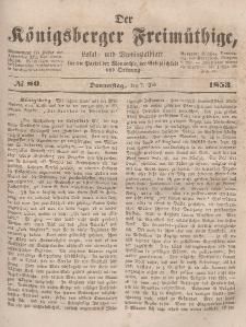 Der Königsberger Freimüthige, Nr. 80 Donnerstag, 7 Juli 1853