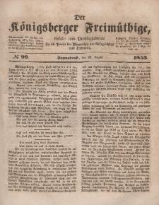 Der Königsberger Freimüthige, Nr. 99 Sonnabend, 20 August 1853