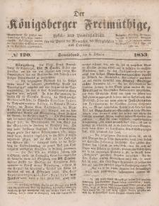 Der Königsberger Freimüthige, Nr. 120 Sonnabend, 8 Oktober 1853
