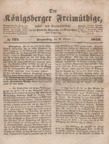 Der Königsberger Freimüthige, Nr. 125 Donnerstag, 20 Oktober 1853