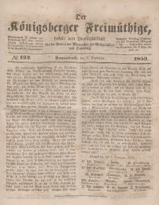 Der Königsberger Freimüthige, Nr. 132 Sonnabend, 5 November 1853