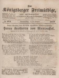 Der Königsberger Freimüthige, Nr. 134 Donnerstag, 10 November 1853