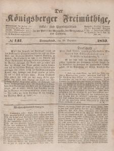 Der Königsberger Freimüthige, Nr. 147 Sonnabend, 10 Dezember 1853