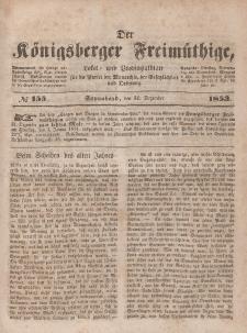 Der Königsberger Freimüthige, Nr. 155 Sonnabend, 31 Dezember 1853