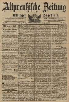 Altpreussische Zeitung, Nr. 143 Dienstag 22 Juni 1897, 49. Jahrgang