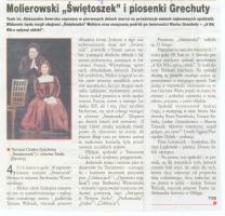 """Molierowski """"Świętoszek"""" i piosenki Grechuty - wycinek prasowy"""