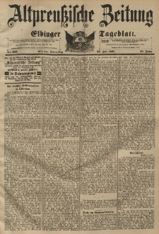 Altpreussische Zeitung, Nr. 169 Donnerstag 22 Juli 1897, 49. Jahrgang
