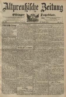 Altpreussische Zeitung, Nr. 199 Donnerstag 26 August 1897, 49. Jahrgang
