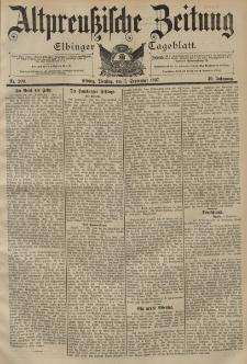 Altpreussische Zeitung, Nr. 209 Dienstag 7 September 1897, 49. Jahrgang
