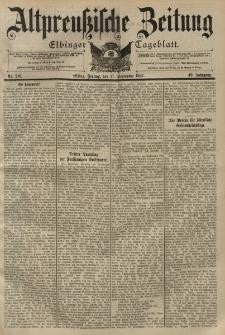 Altpreussische Zeitung, Nr. 218 Freitag 17 September 1897, 49. Jahrgang