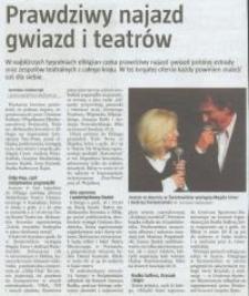 Prawdziwy najazd gwiazd i teatrów - wycinek prasowy