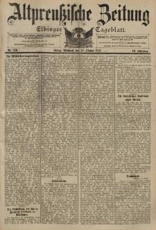 Altpreussische Zeitung, Nr. 246 Mittwoch 20 Oktober 1897, 49. Jahrgang
