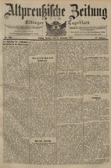 Altpreussische Zeitung, Nr. 266 Freitag 12 November 1897, 49. Jahrgang