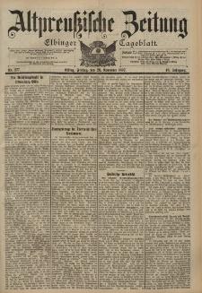 Altpreussische Zeitung, Nr. 277 Freitag 26 November 1897, 49. Jahrgang