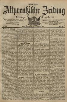 Altpreussische Zeitung, Nr. 284 Sonnabend 4 Dezember 1897, 49. Jahrgang