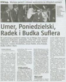 Umer, Poniedzielski, Radek i Budka Suflera - wycinek prasowy