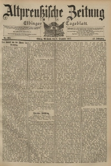 Altpreussische Zeitung, Nr. 287 Mittwoch 8 Dezember 1897, 49. Jahrgang