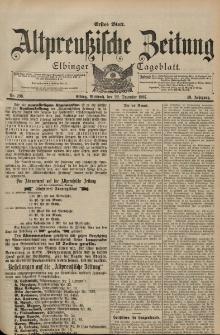 Altpreussische Zeitung, Nr. 299 Mittwoch 22 Dezember 1897, 49. Jahrgang