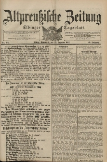 Altpreussische Zeitung, Nr. 302 Sonnabend 25 Dezember 1897, 49. Jahrgang