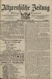 Altpreussische Zeitung, Nr. 303 Dienstag 28 Dezember 1897, 49. Jahrgang