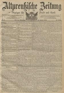 Altpreussische Zeitung, Nr. 9 Freitag 11 Januar 1889, 41. Jahrgang