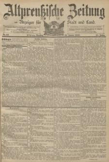 Altpreussische Zeitung, Nr. 13 Mittwoch 16 Januar 1889, 41. Jahrgang