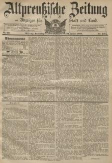 Altpreussische Zeitung, Nr. 20 Donnerstag 24 Januar 1889, 41. Jahrgang