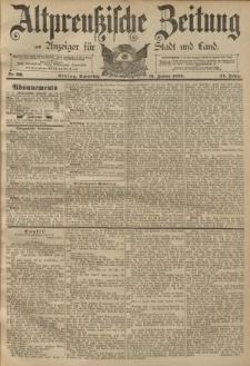 Altpreussische Zeitung, Nr. 26 Donnerstag 31 Januar 1889, 41. Jahrgang