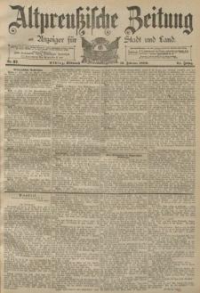 Altpreussische Zeitung, Nr. 37 Mittwoch 13 Februar 1889, 41. Jahrgang