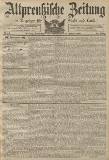 Altpreussische Zeitung, Nr. 44 Donnerstag 21 Februar 1889, 41. Jahrgang
