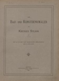 Die Bau- und Kunstdenkmäler des Kreises Stuhm