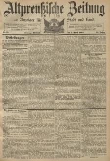 Altpreussische Zeitung, Nr. 79 Mittwoch 3 April 1889, 41. Jahrgang