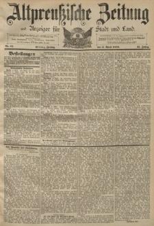 Altpreussische Zeitung, Nr. 81 Freitag 5 April 1889, 41. Jahrgang