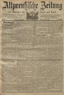 Altpreussische Zeitung, Nr. 82 Sonnabend 6 April 1889, 41. Jahrgang
