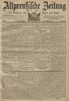 Altpreussische Zeitung, Nr. 84 Dienstag 9 April 1889, 41. Jahrgang