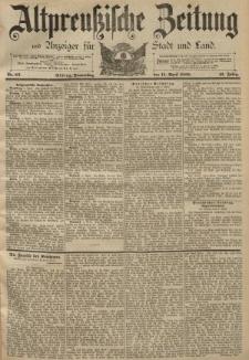 Altpreussische Zeitung, Nr. 86 Donnerstag 11 April 1889, 41. Jahrgang
