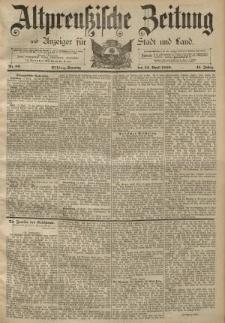 Altpreussische Zeitung, Nr. 89 Sonntag 14 April 1889, 41. Jahrgang
