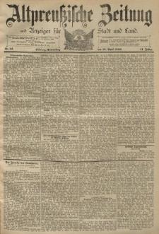 Altpreussische Zeitung, Nr. 92 Donnerstag 18 April 1889, 41. Jahrgang