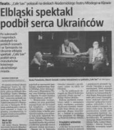 Elbląski spektakl podbił serca Ukraińców - wycinek prasowy