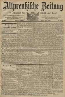 Altpreussische Zeitung, Nr. 127 Sonntag 2 Juni 1889, 41. Jahrgang