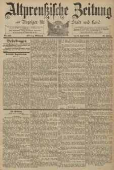 Altpreussische Zeitung, Nr. 152 Mittwoch 3 Juli 1889, 41. Jahrgang