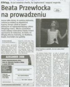 Beata Przewłocka na prowadzeniu - wycinek prasowy